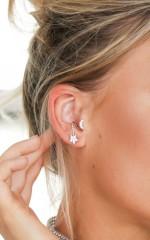 Love Between Us ear cuff in silver