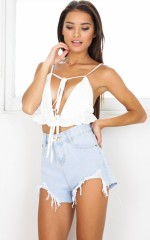 Summer ready denim shorts in light wash