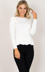 Easy Update Knit Top in white