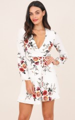 Across The Atlantic dress in white floral