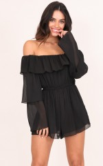 Angelica playsuit in black