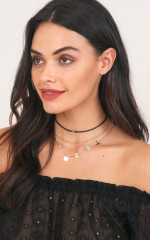 Another You choker in black and gold