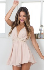 Acquainted playsuit in nude