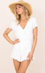 As I Fall playsuit in cream