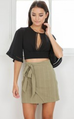 Audree crop top in black
