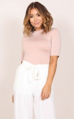 Bad To Me top in dusty pink