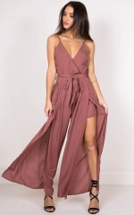 Never Love Me Jumpsuit in plum