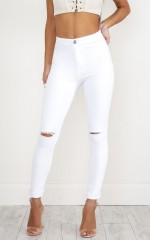 Bella Skinny jeans in white