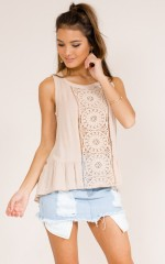 Best Of Me top in beige