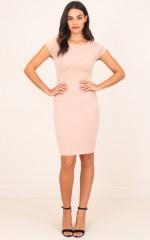 Boss Lady Dress in Beige