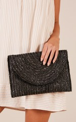 Caught In The Middle clutch bag in black
