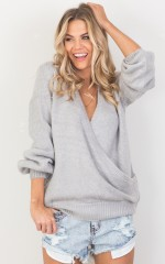 Cry Baby knit in grey