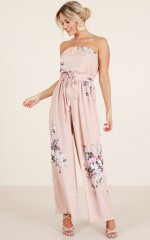 Check It Out jumpsuit in mocha floral