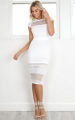 City Limits dress in white crochet