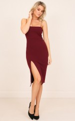 Claim My Love dress in wine