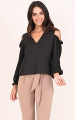 Close The Deal Top in Black