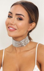 Dancing Disco choker in silver