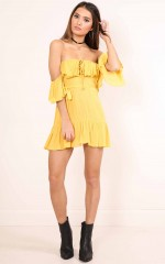 Day Dancing Dress in mustard