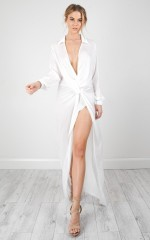 Divine Disaster maxi dress in white