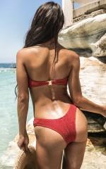 Anais Bikini Bottom in Tuscan Rose