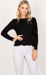 Easy Update Knit Top in black