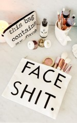 Face It makeup pouch in white