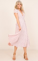 Falling Deeply dress in pink floral