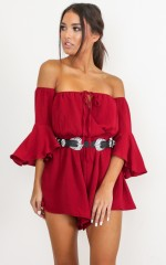 Follow Up playsuit in wine