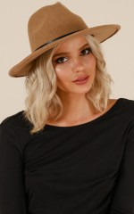 Found Me Out hat in tan