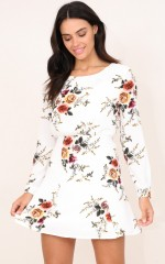 Fresh Fields dress in white floral