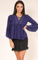 From Afar top in navy