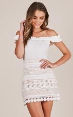 Girls Like Girls skirt in white crochet