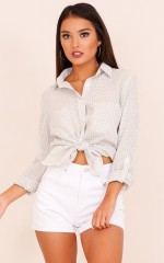 Glastonbury shirt in grey check