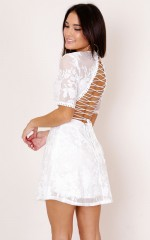 Hello There dress in white lace