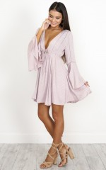 Hold Me Closer dress in mauve