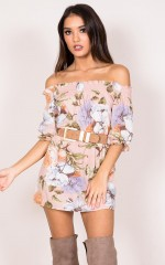 Holy Smokes Dress in pink floral