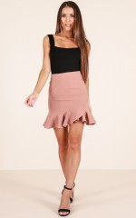 Im With You skirt in blush