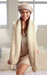 In One Place scarf in beige