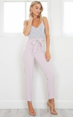 Break It Down Pants in Mauve