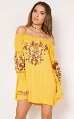Jacaranda Dress in mustard