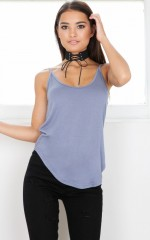 Keep It Cozy top in slate