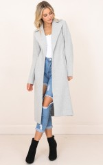 Knew About You coat in grey