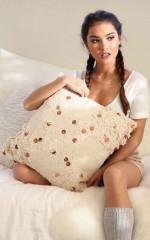 Lay It Down cushion in cream