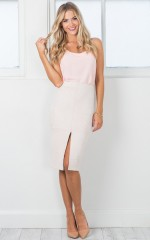 Lady Boss skirt in nude suedette