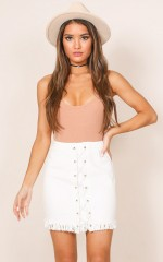 Lima Denim skirt in white