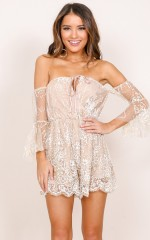 Loveless playsuit in beige
