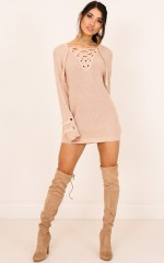 Loving Me knit dress in beige