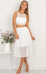 Love Story two piece set in white