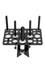 Makeup Brush Drying Rack in black