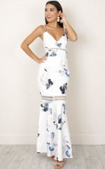 Meet Me At Midnight Dress in white floral